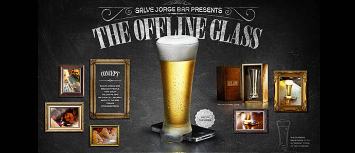 The Offline Glass Takes Aim at Smartphone Use in Bars