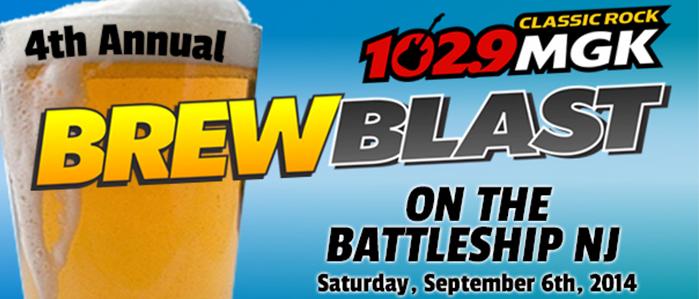 The 4th Annual WMGK 102.9 Brew Blast Returns to the Battleship New Jersey, Sept 6