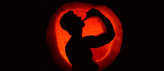 Booze Themed Pumpkin Carvings