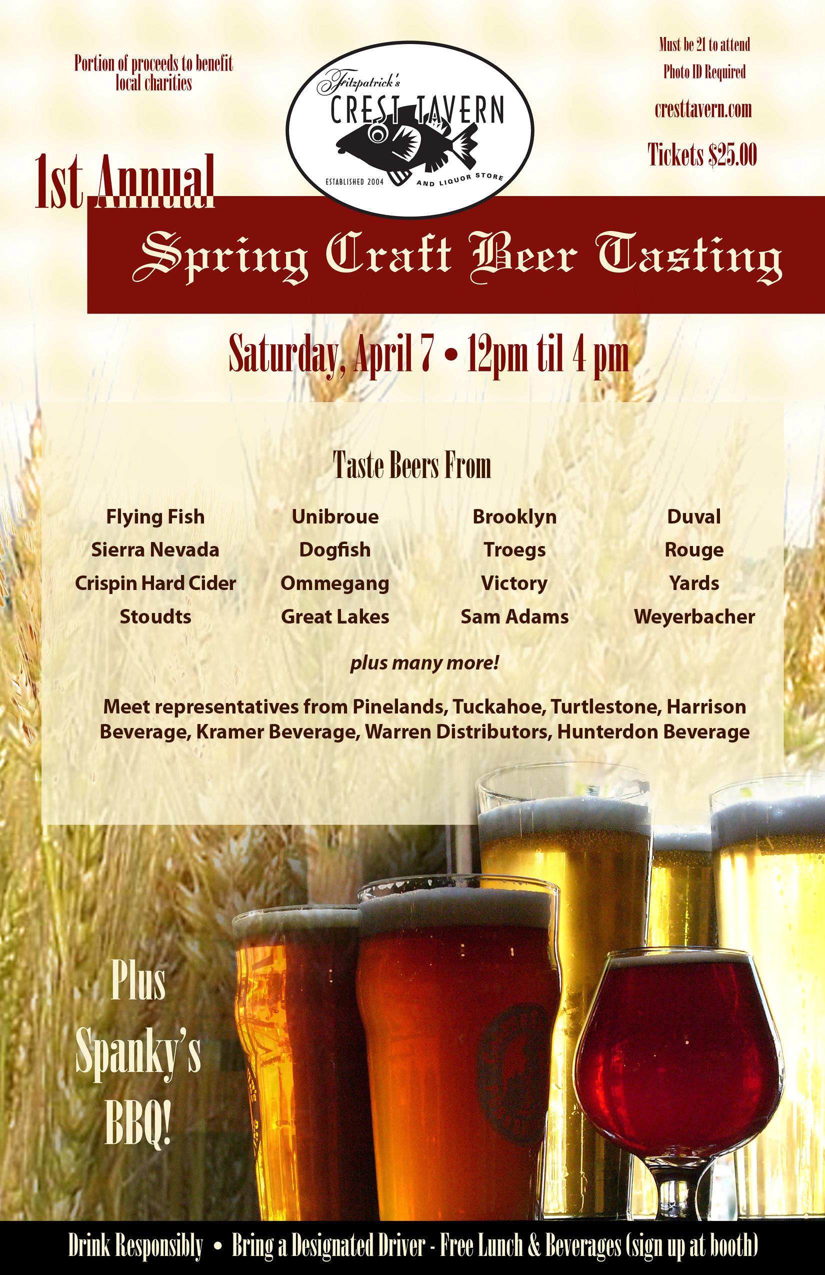 1st Annual Spring Craft Beer Tasting